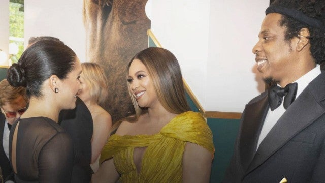 Beyonce Was NERVOUS to Meet Meghan Markle at 'The Lion King' Premiere