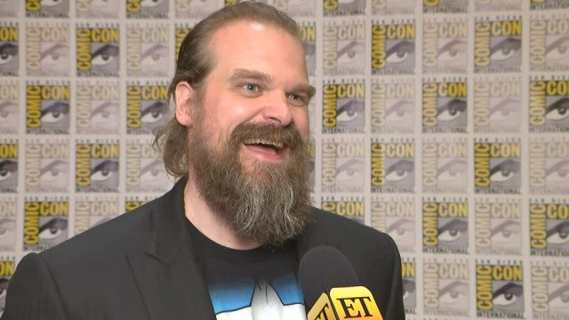 David Harbour Reveals Details About His 'Black Widow' Character | Comic-Con 2019 (Exclusive)