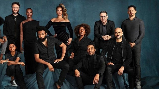 John Oliver Says Beyonce Wasn't Actually There for Epic 'Lion King' Cast Photo
