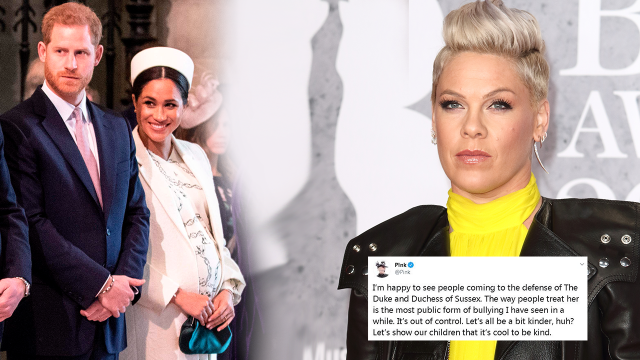 Pink DEFENDS Meghan Markle From Bullying