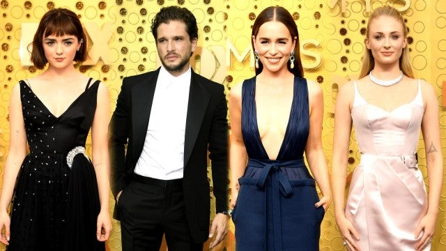 2019 Emmys: Watch Maisie Williams, Kit Harington and 'GOT' Cast Hit the Red Carpet