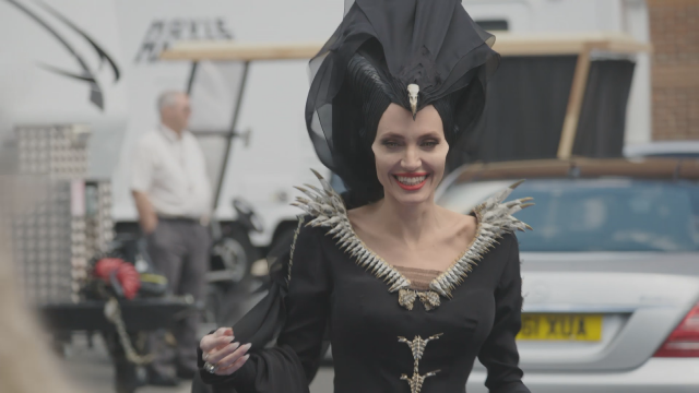 'Maleficient: Mistress of Evil': Angelina Jolie Enjoys Ping-Pong on Set (Exclusive)