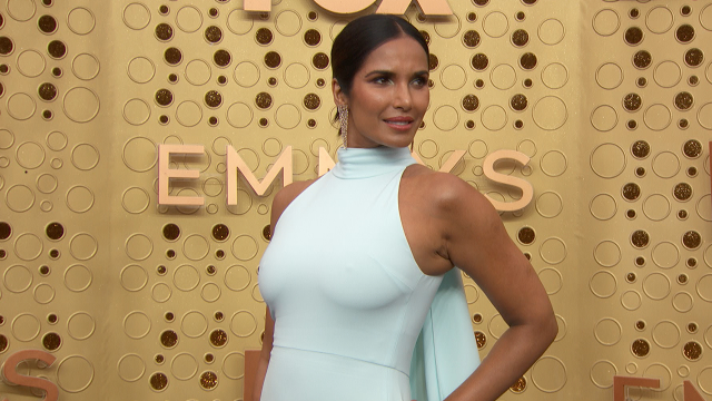 2019 Emmys: Padma Lakshmi Is Beautiful in Baby Blue on the Red Carpet