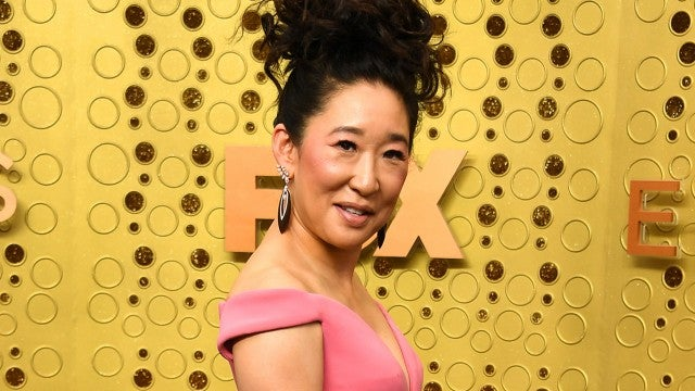 2019 Emmys: Sandra Oh Rocks Pink Zac Posen Gown on the Red Carpet