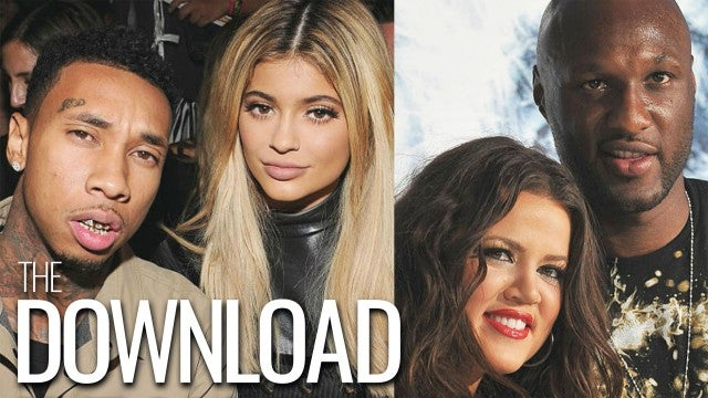 Kylie Jenner and Khloe Kardashian Run Into Their Exes During Night Out | The Download
