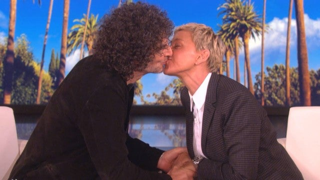 Howard Stern Gives Ellen DeGeneres a Kiss Before Remarrying Wife Beth Stern