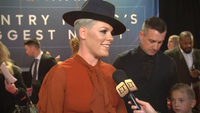 Pink Talks Taking Time Off From Music and Focusing on Family | CMA Awards 2019