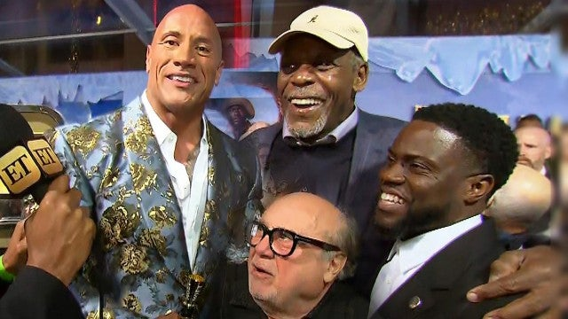 Dwayne 'The Rock' Johnson and Kevin Hart's Interview Gets CRASHED by 'Jumanji' Co-Stars!
