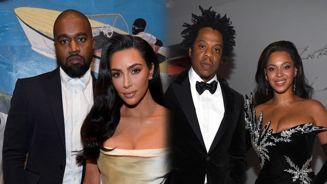 Kim Kardashian and Kanye West Reunite With Beyonce and JAY-Z at Diddy's 50th Birthday Party