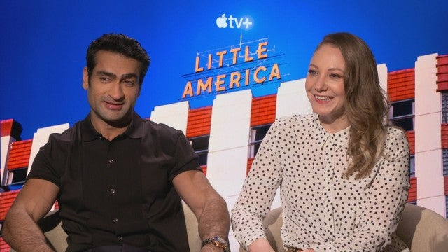 Watch Emily V. Gordon Get Distracted by Kumail Nanjiani's Marvel Muscles