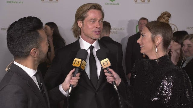 PGA Awards 2020: Brad Pitt Says His Dance Moves Have 'Stagnated' Since Prom (Exclusive)