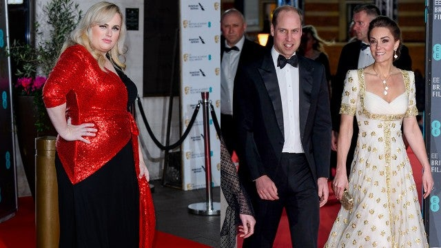 Watch Kate Middleton and Prince William React to Rebel Wilson's BAFTAs Joke About Prince Harry