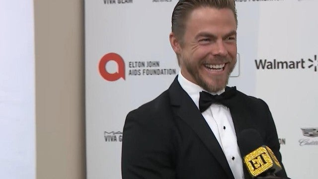 Derek Hough Reacts to Julianne Hough's Energy Healing Treatment (Exclusive)