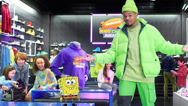 Chance The Rapper Does 'Renegade' Challenge with Spongebob Squarepants