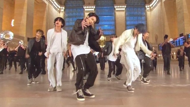 BTS Takes Over Grand Central Terminal to Perform New Song 'ON'