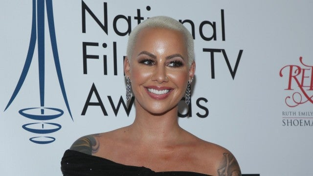 Amber Rose Gets Giant Forehead Tattoos in Honor of Her Sons