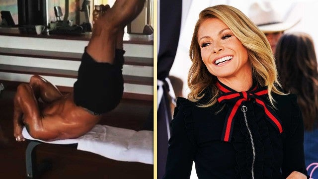 Kelly Ripa Posts 'Extremely Thirsty' Video of Hubby Mark Consuelos Working Out!