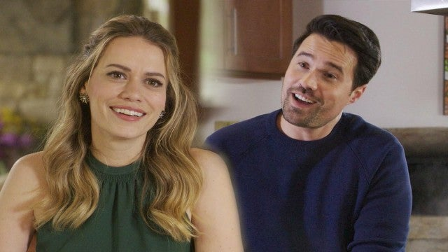 Bethany Joy Lenz and Brett Dalton Get Flirty in Hallmark's 'Just My Type' Romance: Watch the Clip! (Exclusive)