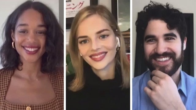 'Hollywood' Stars Laura Harrier and Samara Weaving On Working with Darren Criss (Exclusive)