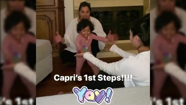 Watch Vanessa Bryant's Emotional Reaction to Daughter Capri Taking Her First Steps