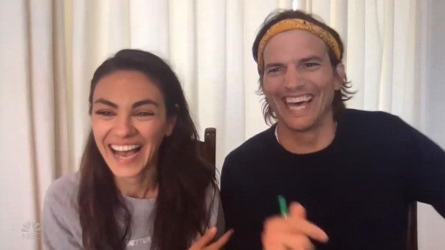 Mila Kunis and Ashton Kutcher Can't Stop Giggling During Hilarious Voice Swap Game With Jimmy Fallon