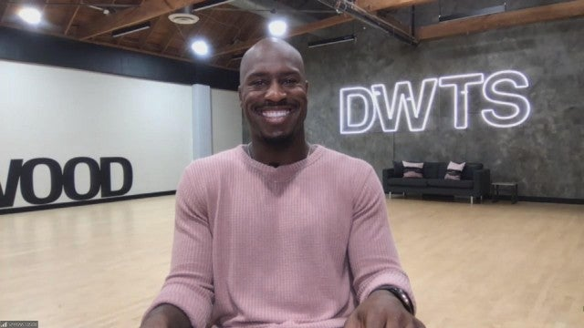 Vernon Davis Says 'DWTS' Rehearsals Are 'Kicking My Butt' (Exclusive)