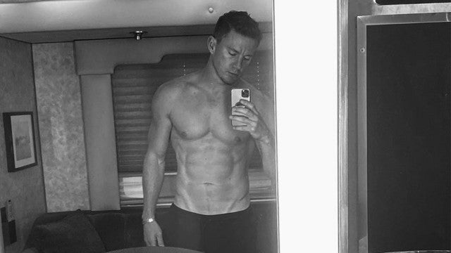 Channing Tatum Posts Shirtless Selfie and Declares He's 'Finally Back'
