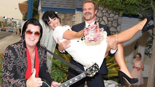 Inside David Harbour and Lily Allen's Las Vegas Wedding