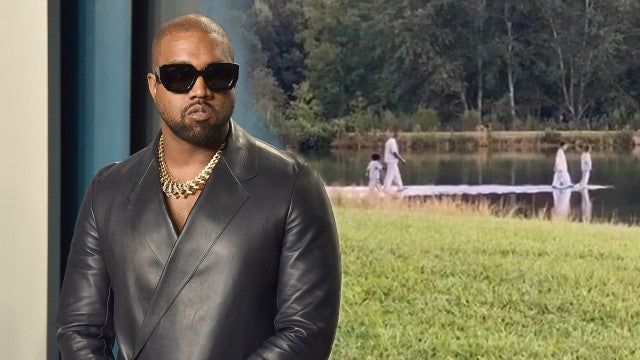 Kanye West Walks on Water During Sunday Service With Joel Olsteen: Watch