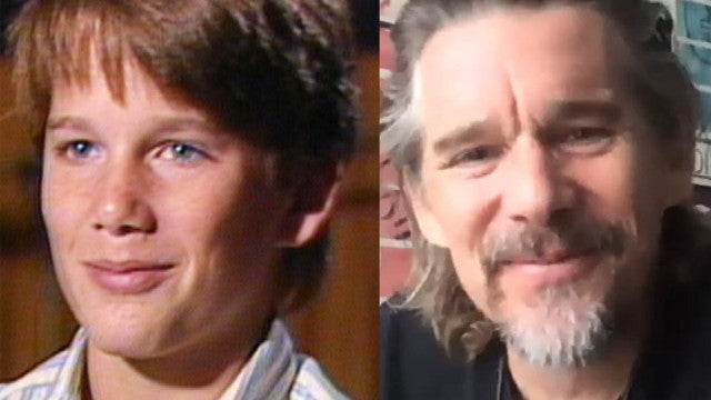 Ethan Hawke Has Hilarious Reaction to One of His First ET Interviews (Exclusive)