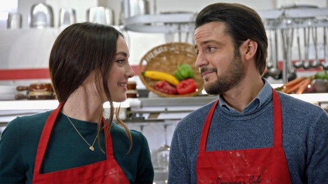 Tyler Hynes & Mallory Jansen Flirt It Up in Hallmark's 'On the 12th Date of Christmas' (Exclusive)