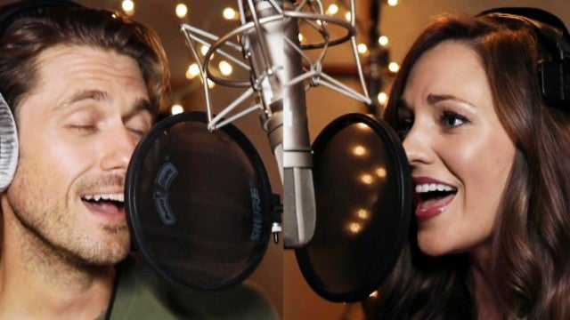 Laura Osnes and Aaron Tveit Sing 'Winter Wonderland' in Hallmark's 'One Royal Holiday' Music Video (Exclusive)