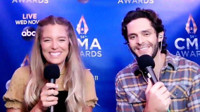 Thomas Rhett and Wife Lauren Akins Talk Teaming Up for 'CMA Country Christmas' (Exclusive)