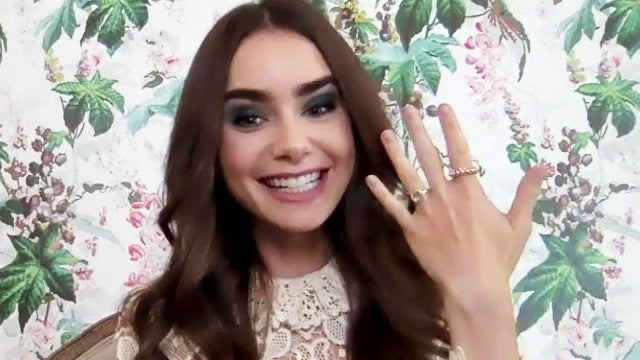 Lily Collins Shows Off Her New Engagement Ring and Shares Family's Reaction (Exclusive)