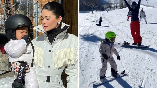Watch Kylie Jenner and Travis Scott's 2-Year-Old Daughter Stormi Webster Slay on the Slopes!
