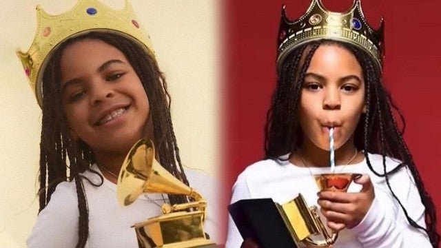 Blue Ivy Celebrates Her GRAMMY Win by Turning the Award Into a Sippy Cup!