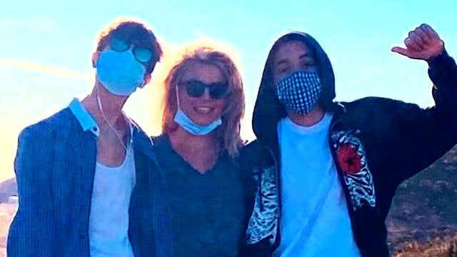 Britney Spears Posts Rare Photo With Teenage Sons