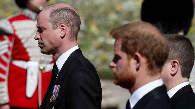 Prince Harry Reunites With Prince William and Royal Family at Prince Philip's Funeral