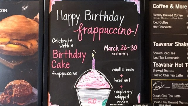 ETONLINE Now What Exactly Is In A Birthday Cake Frappuccino