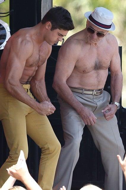 Zac Efron And Robert De Niro Go Shirtless Flex Their