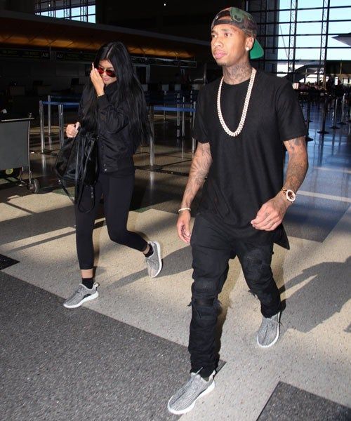 Kylie Jenner and Tyga Wear His and Hers Sneakers  f3d5ab60b