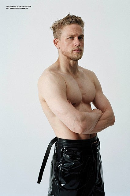 Charlie Hunnam Is Shirtless In Tight Leather Still
