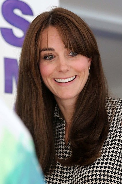 Kate Middleton S Bangs Make Their Official Debut And