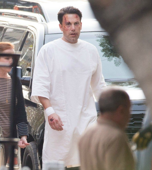 Ben Affleck Sports a Giant Back Tattoo On Set Of His New ...