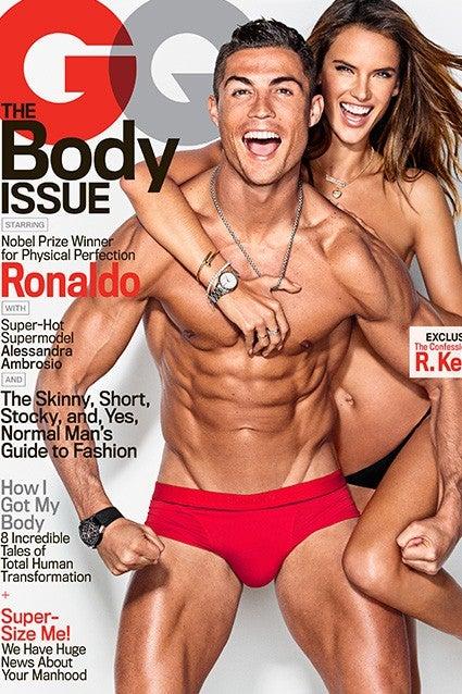 424f09b82122 Cristiano Ronaldo and Alessandra Ambrosio Pose Nearly Nude on ...