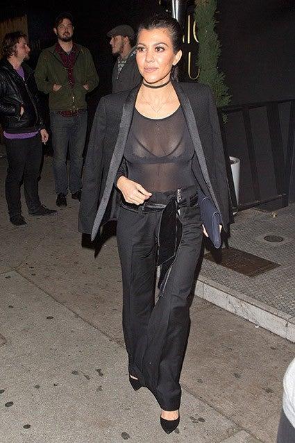 Kourtney Kardashian See-Through naked 39