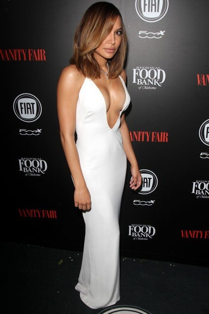 Naya Rivera Flashes Major Cleavage Months After Giving