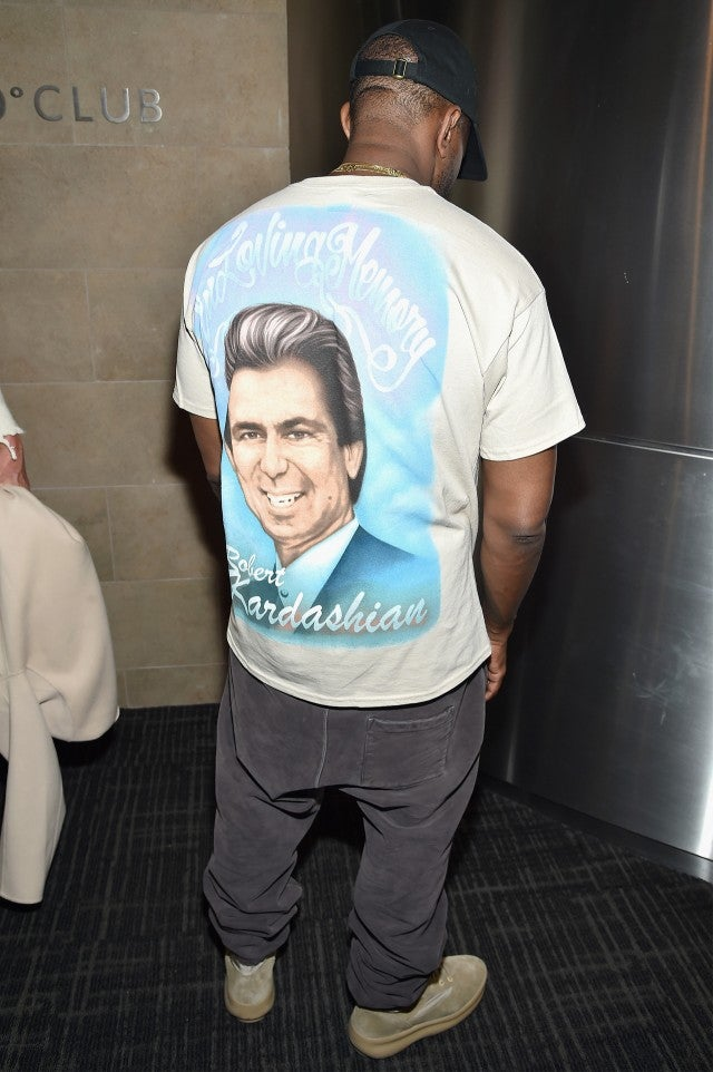 65bcc5e8c Kanye West Pays Tribute to His Late Mother and Robert Kardashian Sr ...