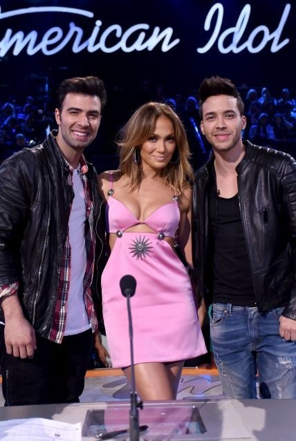 Jennifer Lopez Stuns in a Plunging Pink Dress on 'American Idol' -- See Her Sexy Look!