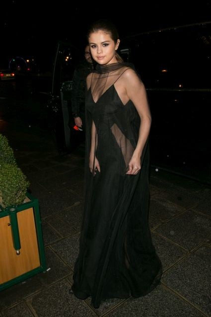 Selena Gomez Continues Her Chic Streak Paris Sheer Black Dress See The Stunning Pics